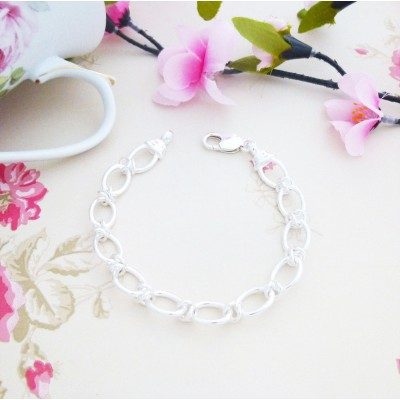 Florence Link sterling Silver Bracelet