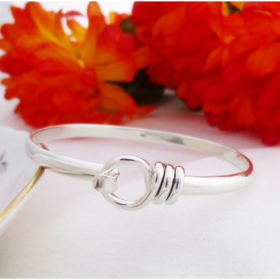 Harper hoop sterling silver bangle