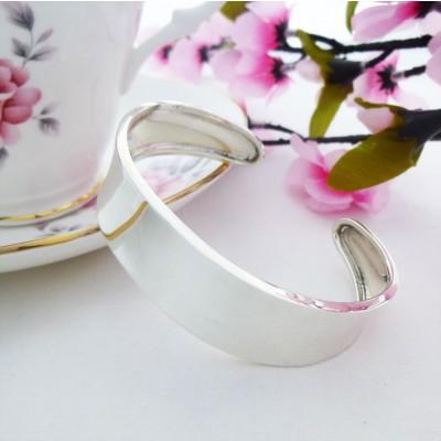 Zara Plain Dished sterling Silver Torque