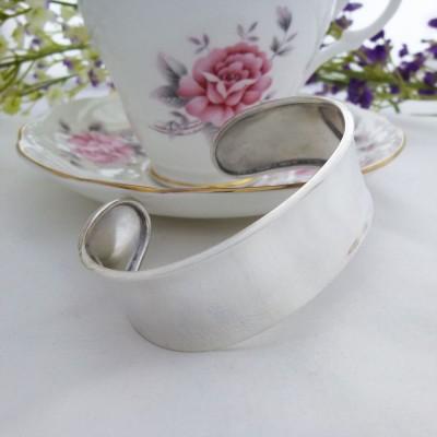 Chunky Silver torque cuff