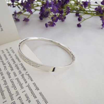 Darla personalised large silver bangle