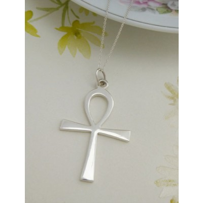Carrington Large Silver Ankh