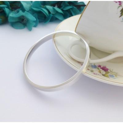 Anna personalised silver bangle