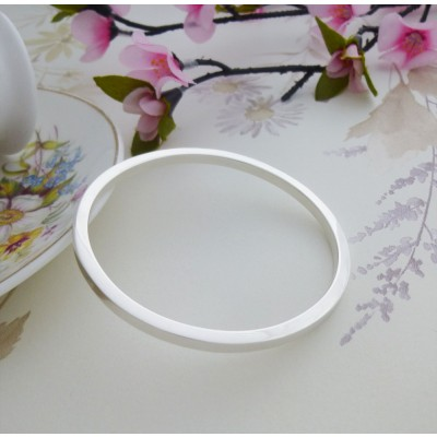 Antonia small silver bangle