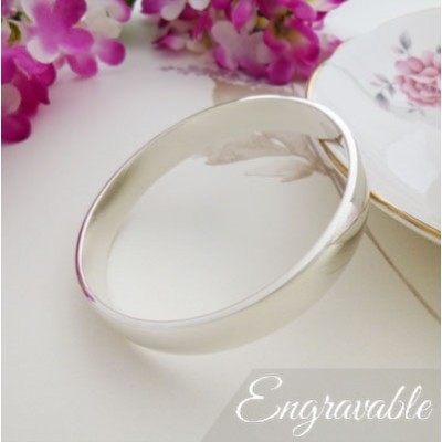Ava heavy weight sterling silver bangle