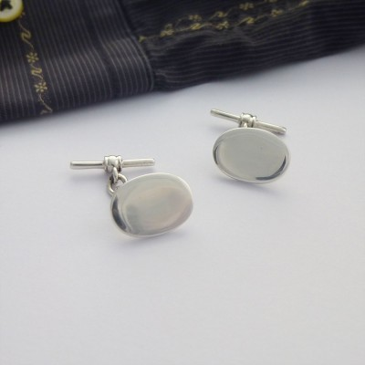 Berlin Plain Oval Cufflinks
