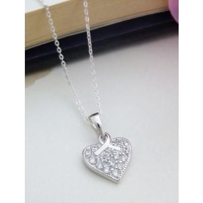 Bethany CZ Heart with Bow