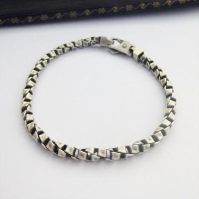 Byron Oxidised Mens Bracelet