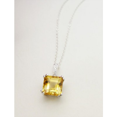 Catherine Citrine Silver Necklace