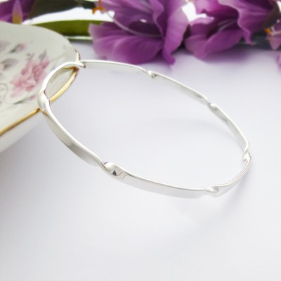 Sadie twisted slave bangle