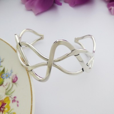 Erin weave silver bangle