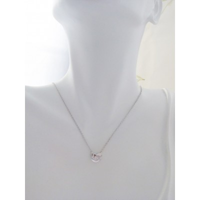 Georgini Esme Silver  Heart Pendant Necklace