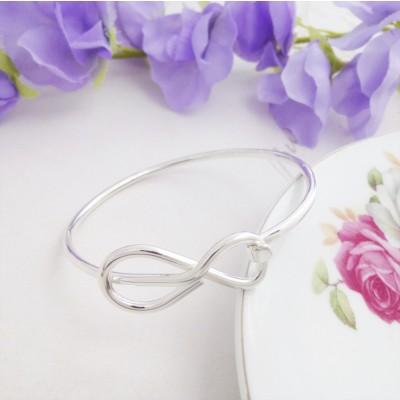Eternity hoop silver bangle