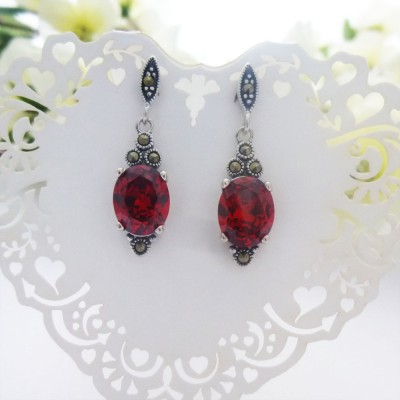 Garnet CZ Fancy Drop