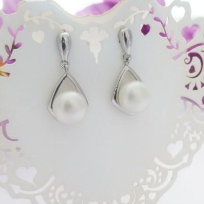 Freshwater Pearl & Silver Teardrop