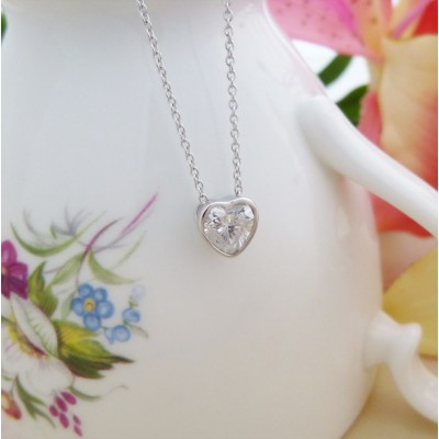 Lexi CZ Floating Heart