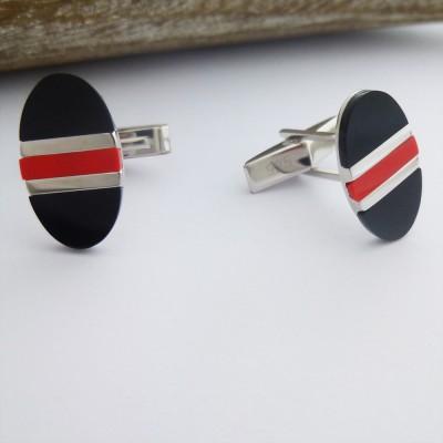 Tokyo Red and Black Cufflinks