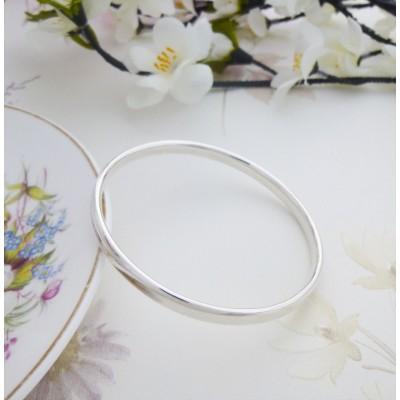 Malia round classic silver bangle