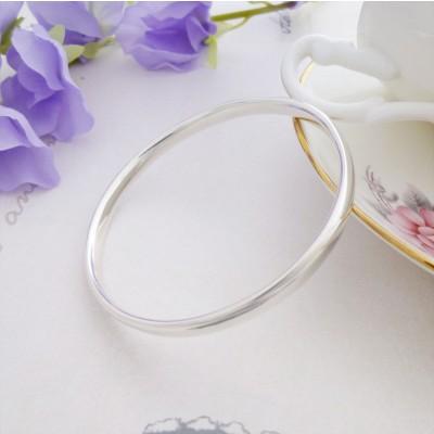 Malia small silver bangle