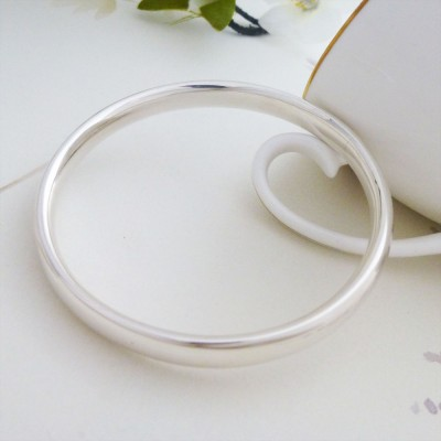 Mya Extra Small Silver Bangle