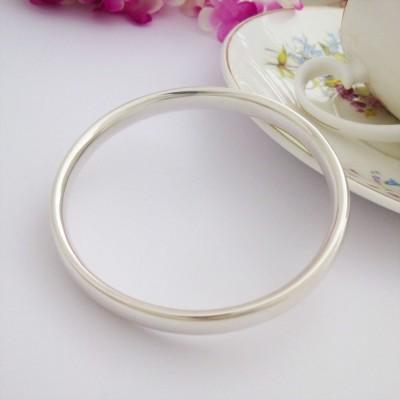 Mya small silver bangle