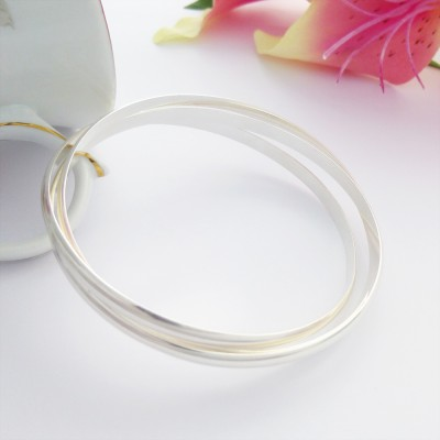 Triple russian bangle solid sterling silver