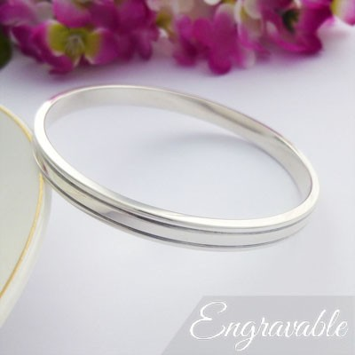 Paloma solid 925 sterling silver bangle