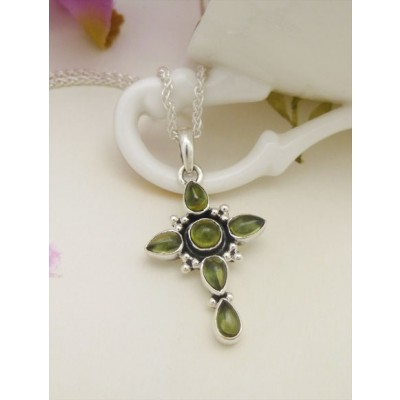 Marlie peridot green and olive cross pendant and sterling silver marlie peridot cross mozeypictures Image collections