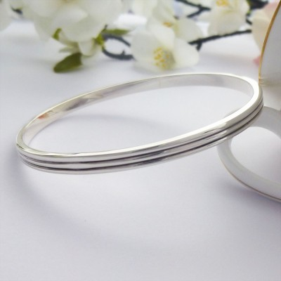 Phoebe Double Grooved Bangle