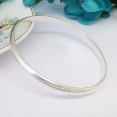 Phoenix Solid Silver Bangle