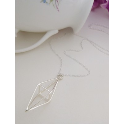 Sterling Silver Prism Necklace