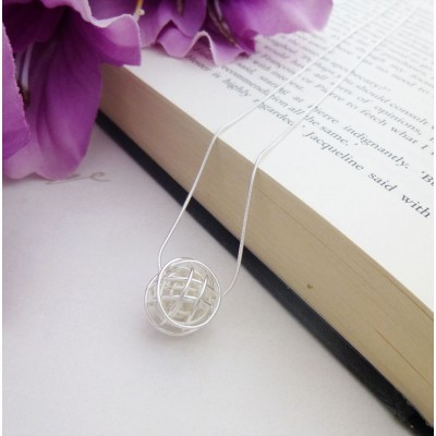 Rhiannon Silver Nest Pendant Necklace