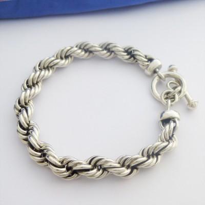Men s Chunky Rope Bracelet in 925 Sterling Silver d16e26cf0aff
