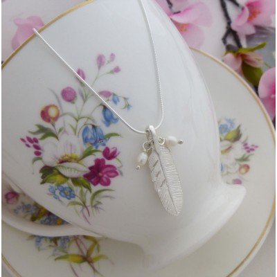 Sabine Feather Necklace