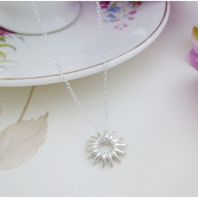 Skye Silver Rays Necklace