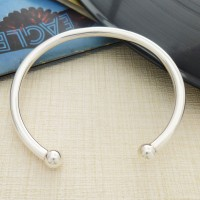 Mens Solid Silver Torque Bangle