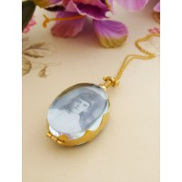 Anya Oval Locket Pendant Necklace