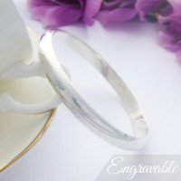 Arianna Small Chunky Silver Bangle