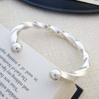 Mens Large Chunky Silver Torque