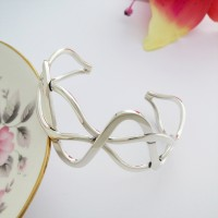Erin Silver Weave Bangle