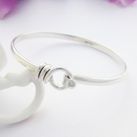 Harper Hoop Silver Clip Bangle