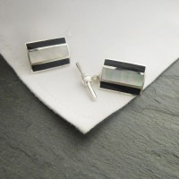 London Onyx Stripe Cufflinks