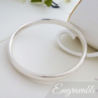Mya Small Oval Section Bangle