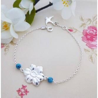Daisy Sterling Silver Bracelet