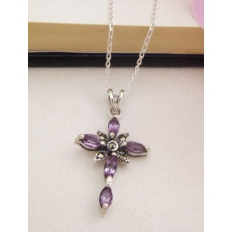 Faith Amethyst Cross