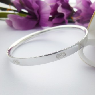 Harlow Solid Silver Bangle
