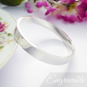 Isla large solid silver bangle