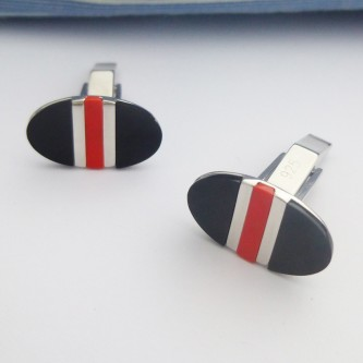 Tokyo Red and Black Cufflinks