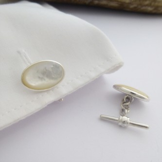 Oslo Oval Mother of Pearl Cufflinks