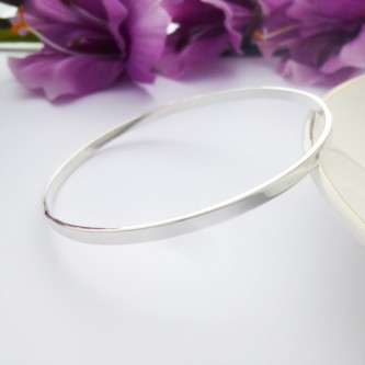 Plain Silver Slave Bangle from Guilty